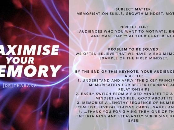 Keynote: Maximise Your Memory