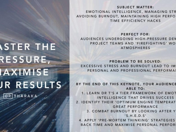Keynote: Master The Pressure, Maximise Your Results