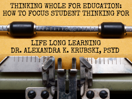Thinking Whole - building better minds in the classroom